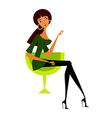 Woman sitting vector
