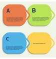 Abstract color shapes for your infographics vector