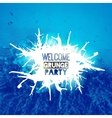 Welcome grunge party poster vector