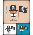 Pirate businessman vector