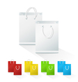 Set of blank shopping paper bags vector