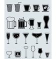 Glasses for drinks vector