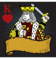 King of hearts vector