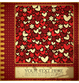 Grunge card with flowers and hearts vector