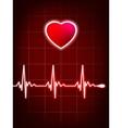 Abstract heart beats cardiogram eps 8 vector