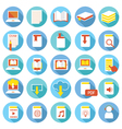 School online e-learning e-book book icons set vector