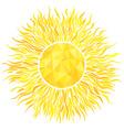 Sun with sunburst and geometric pattern vector