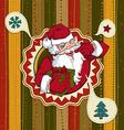 Vintage christmas card with santa claus vector