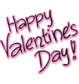 Happy valentines day - text vector