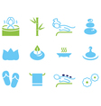 Set of icons for spa wellness and massage vector