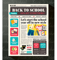 Back to school sales promotional design template vector