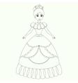 Beautiful princess coloring book page vector