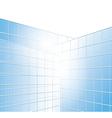 Wall of buildings - blue windows vector