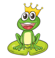 King cartoon frog vector