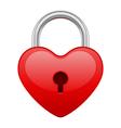 Red shiny heart lock shape vector
