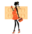 Chic pregnant woman vector