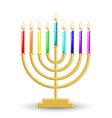 Hanukkah lamp vector
