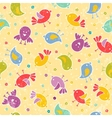 Baby seamless with cute birds vector