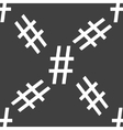 Sharp web icon flat design seamless pattern vector