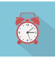 Flat alarm clock vector