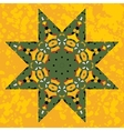 Islamic ornamental green star lace ornament vector