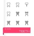 Teech icon set vector