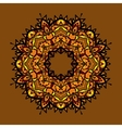 Hand drawn ethnic circular beige ornament vintage vector