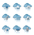 Cloud icon set vector