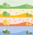 Banner seasons simple vector