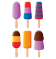 Chocolate popsicles vector