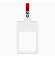 Empty plastic tag vector