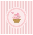 Background with cupcake vector