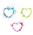 Grunge multicolored hearts vector