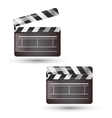 Clapper board isolated vector