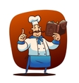 Cartoon cook character vector