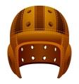 Vintage old leather american football helmet vector