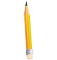A topview of a pencil vector