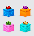 Gift boxes for a birthday or new year with bows vector