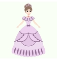 Beautiful princess girl in ancient dress vector
