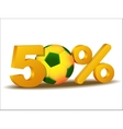 Fifty percent discount icon vector