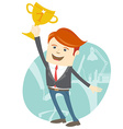 Happy office man holding the cup vector