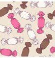 Sketchy candies seamless pattern vector