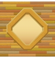 Wooden framework on a wall vector