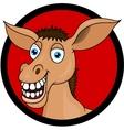 Donkey head cartoon vector