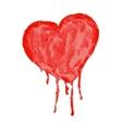 Watercolor heart - vector