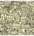 Cartoon town seamless pattern vector
