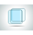 Glass squares vector