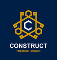 Abstract construct pictogram design vector
