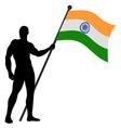 Flag bearer vector