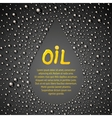 Oil drop abstraction vector